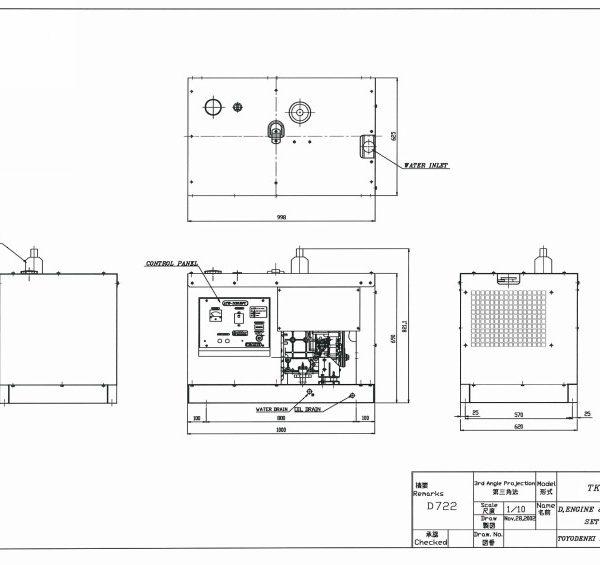 Дизель генератор TOYO TKV-11SPC00004