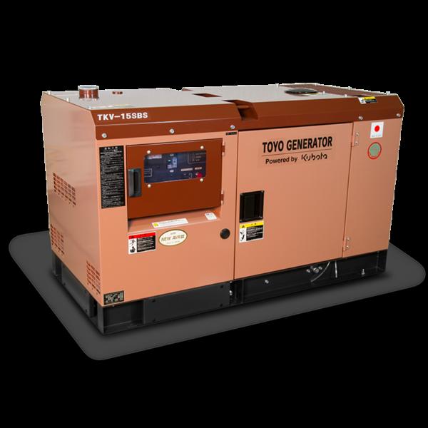 Дизельный генератор TOYO TKV-15SBS в шумозащитном кожухе