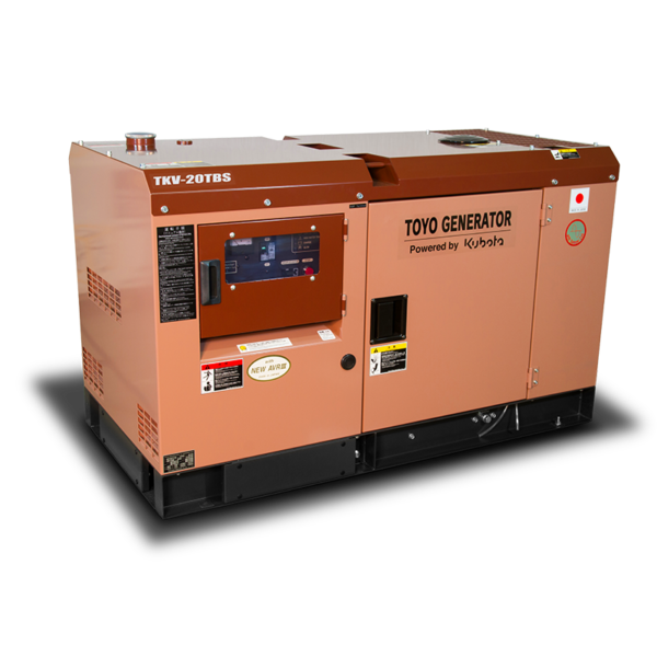 Дизельный генератор TOYO TKV-20TBS в шумозащитном кожухе