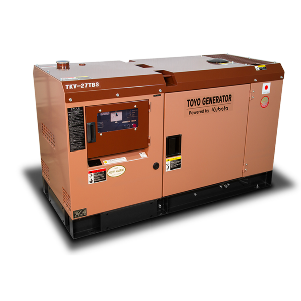 Дизельный генератор TOYO TKV-27TBS в шумозащитном кожухе