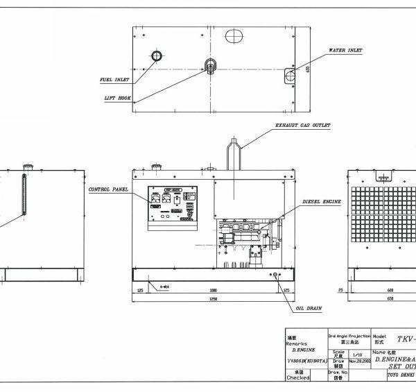 Дизельный генератор TOYO TKV-27TPC03