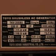 Дизельный генератор TOYO TKV-TKV-TKV-20SBS02