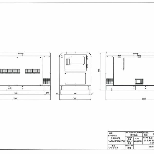 Дизельный генератор TOYO TG-12SBS03