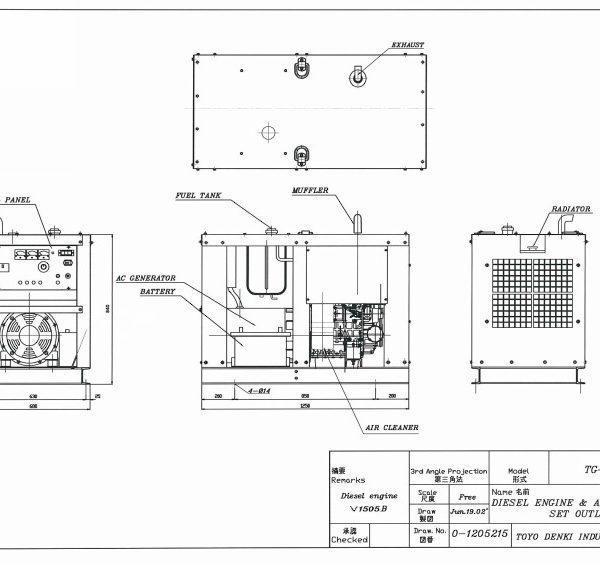 Дизельный генератор TOYO TG-12SPC04