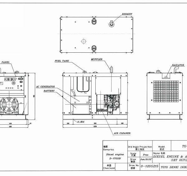 Дизельный генератор TOYO TG-14SPC03