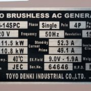 Дизельный генератор TOYO TG-19TPC02