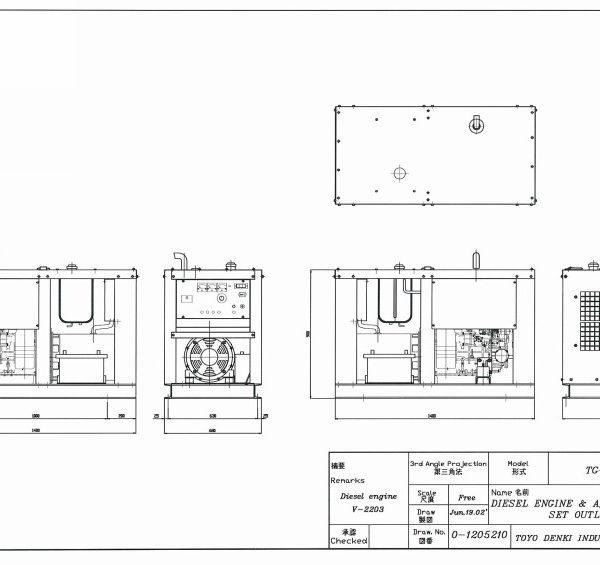 Дизельный генератор TOYO TG-28TPC02